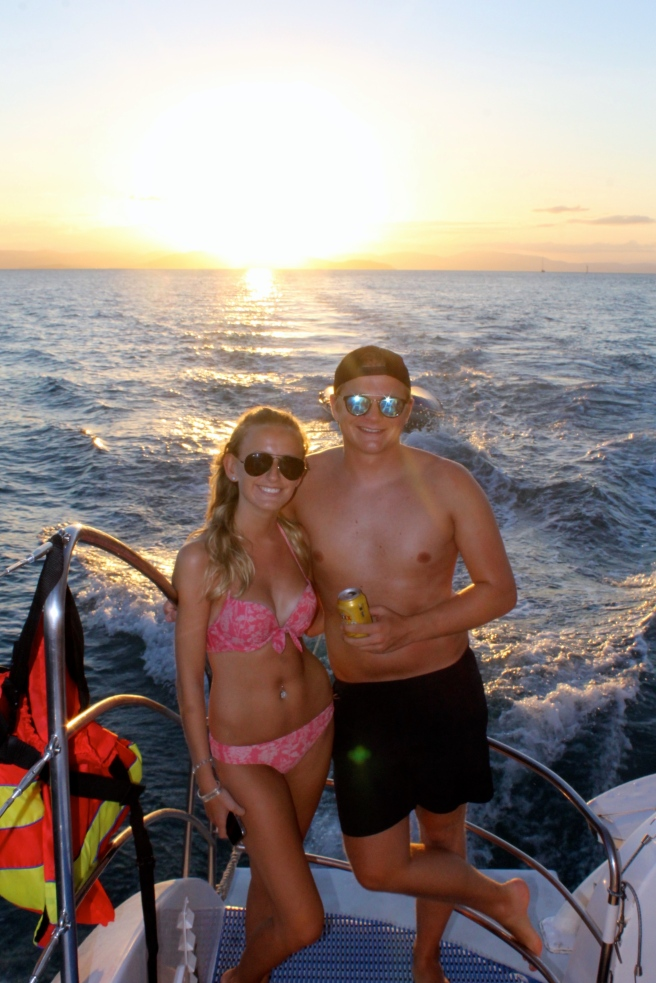 Couple on Whitsundays Cruise