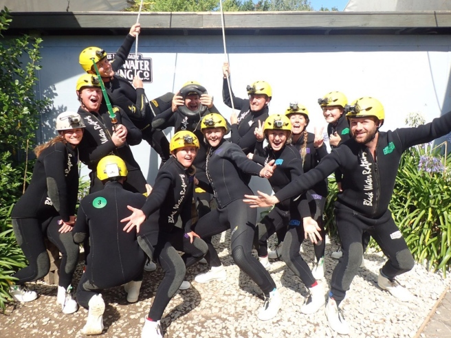 Waitomo Caving Group Shot