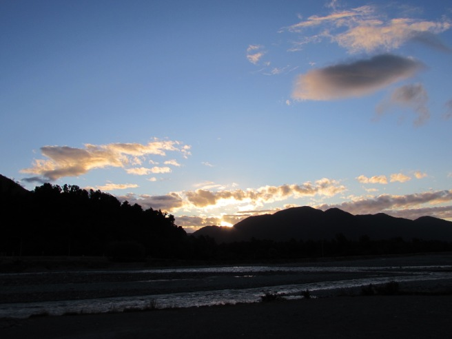 Sunset in Franz Josef