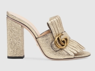 Gucci Gold Mules