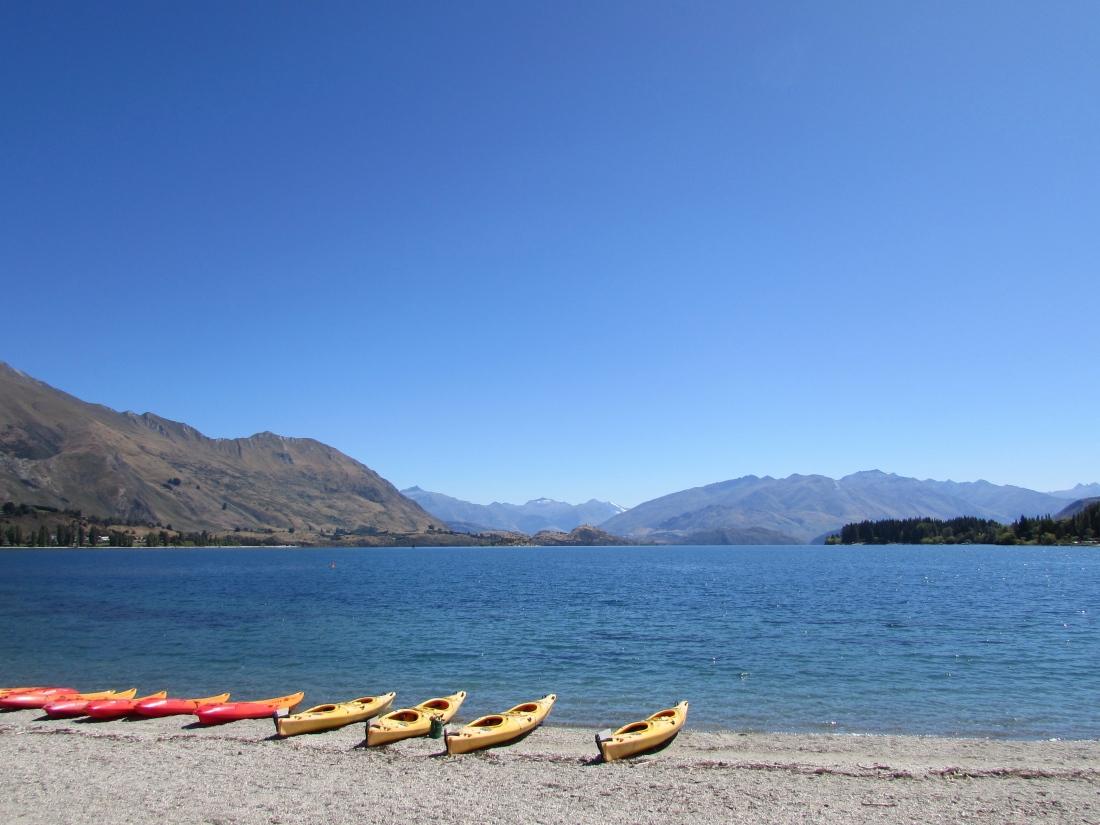 Boats by Lake Wanaka